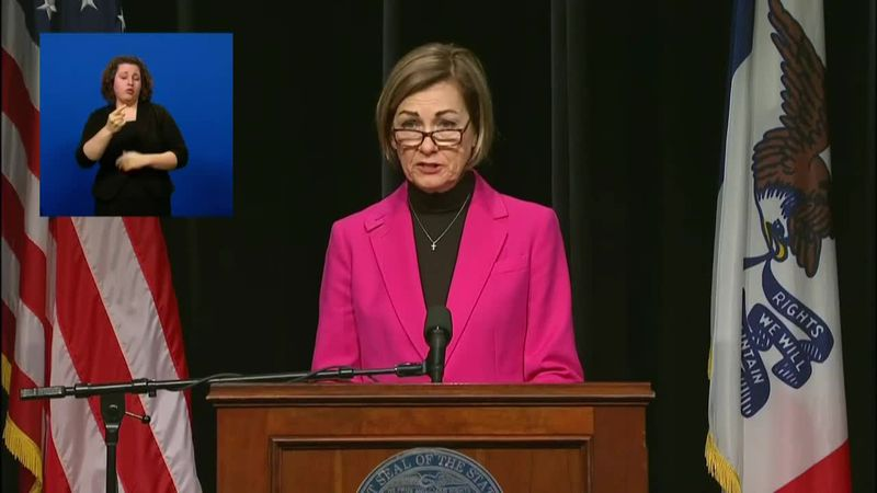 Iowa Gov. Reynolds announces phase 1B plans starting in February