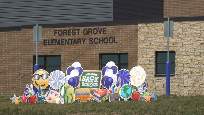 For about 250 students at Forest Grove Elementary School, it wasn't just a first day of school....