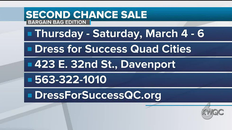Dress for Success Second Chance Sale facts for 2021 event.