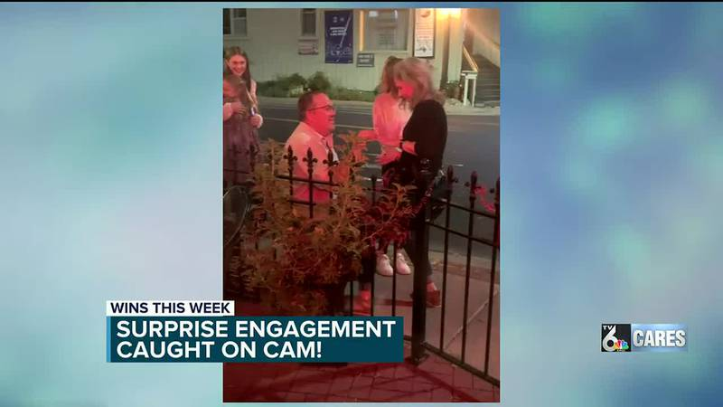 In Morgan's win of the week, she shared a video she captured of a surprise engagement in the...