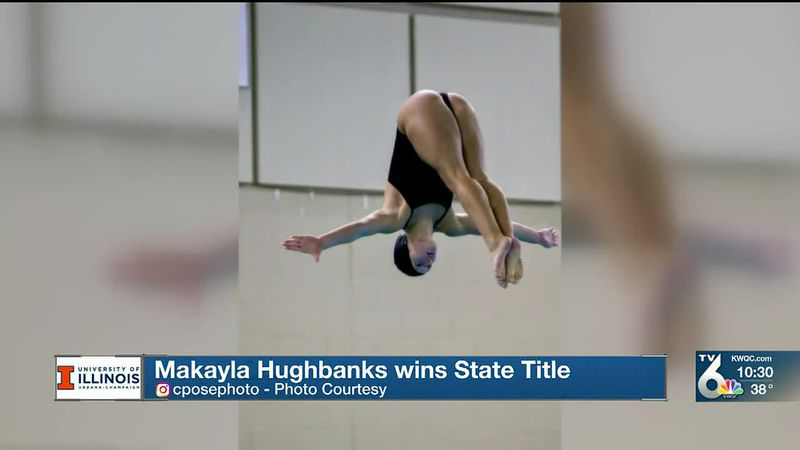 Bettendorf senior Makayla Hughbanks won a State Diving Title